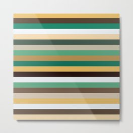 Pastel Stripes II Metal Print