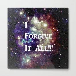 Blue Brown Galaxy : I Forgive It All! Metal Print