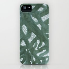 Entangling Green iPhone Case