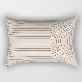 Burnt Orange Line Art Rectangular Pillow