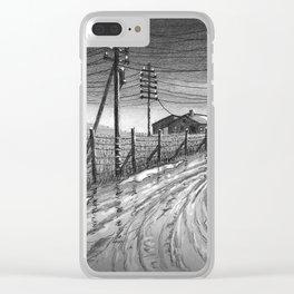 Muddy roads Clear iPhone Case