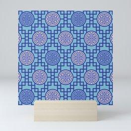Chinese Geometrics / Blue Mini Art Print