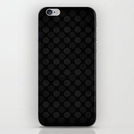 Black and white circles pattern iPhone Skin