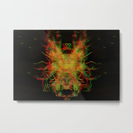 3D Mechanical Antelope Metal Print