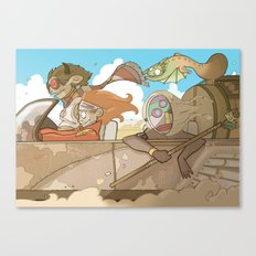 On the Road 2: Distracted Canvas Print