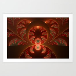 Fractal Mysterious, Warm Colors Are Shining Art Print