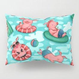 Summer Lovin' Pigs Pillow Sham