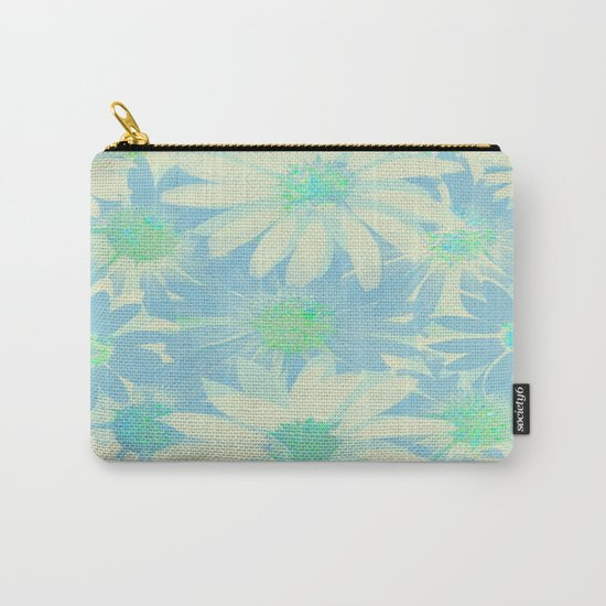 Soft Painterly Floral Sparkle Absract Carry-All Pouch