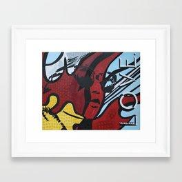 LOVE POP ART Framed Art Print