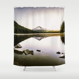 Fantastic Morning - Mount Hood Reflection Shower Curtain