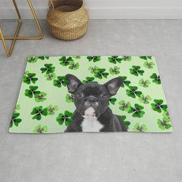 St. Patrick's Day French Bulldog - Shamrock Good Luck Rug