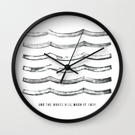 And the waves will wash it away Wall Clock