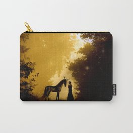 Magical Forest with a Lady and a Unicorn Carry-All Pouch