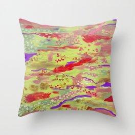 Mermaid's Waters Throw Pillow
