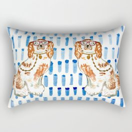 REDHEAD IN GLASSES - right facing Rectangular Pillow