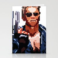 terminator Stationery Cards featuring Terminator Pixelated by Escobarr