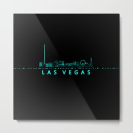 Digital Cityscape: Las Vegas, Nevada Metal Print