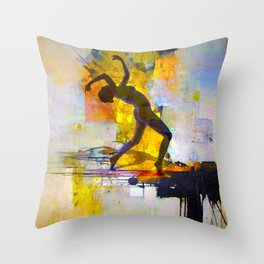 Dance among the colors Throw Pillow