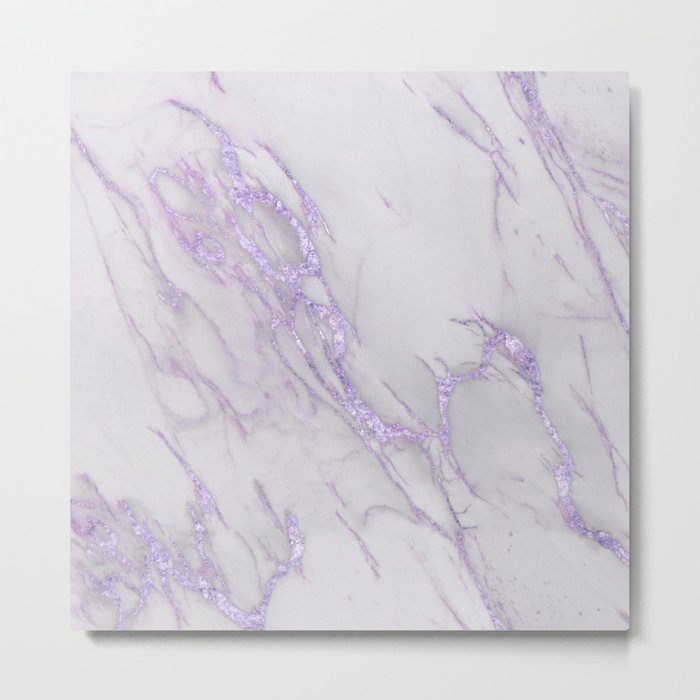 Ultra Violet Marble Metal Print