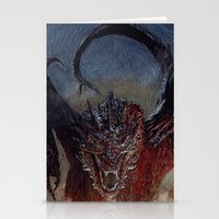 smaug Stationery Cards featuring Smaug by Cécile Pellerin