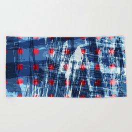 dots on blue ice Beach Towel