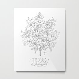 Texas Sketch Metal Print