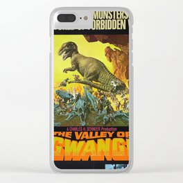 Vintage Film Poster- The Valley of Gwangi (1969) Clear iPhone Case