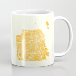 San Francisco City Map 03 Coffee Mug