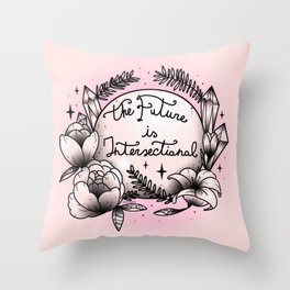 The Future Is Intersectional Throw Pillow