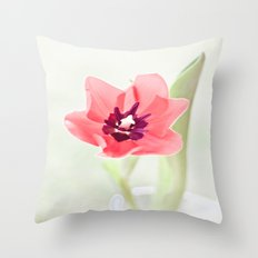 Pretty Pink Tulip Throw Pillow