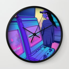 Arcade Hours Wall Clock