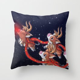 Santa's Backups Throw Pillow