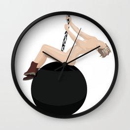 Miley Cyrus - Wrecking Ball Wall Clock
