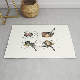 Meet the Beetles (white option) Rug