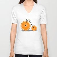 clockwork orange V-neck T-shirts featuring Vitamin by Florent Bodart / Speakerine