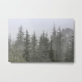 """Foggy forest"". Retro series. Metal Print"