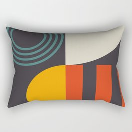 mid century bauhaus geometry square 2 Rectangular Pillow
