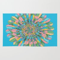 funky Area & Throw Rugs featuring Funky Flower by DesignsByMarly
