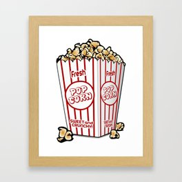 Cartoon Sweet Popcorn Framed Art Print