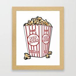 Cartoon Sweet Popcorn Framed Art Print