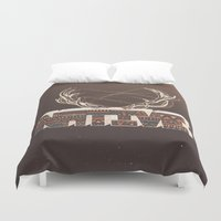native american Duvet Covers featuring Native by Pilgrim
