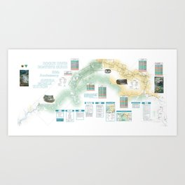 BLM - Detailed Rogue River Overview Map (2018) Art Print