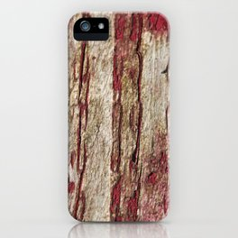 Old wood with red paint iPhone Case