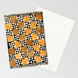 North Afghanistan Cotton Quilt Print Stationery Cards