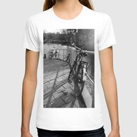 bicycles T-shirts featuring bicycles near the canal by habish