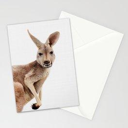 Kangaroo Print, Australian Animal Wall Art, Nursery Decor, Kids Room Poster Stationery Cards