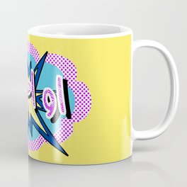OMG Arabic Pop Art Comic Style Coffee Mug