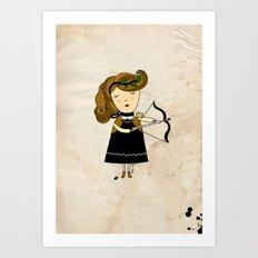 Sagittarius Girl Art Print