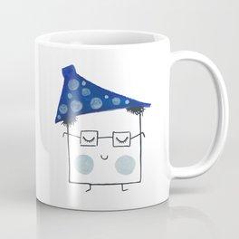 MyHappySquare with a blue hat Coffee Mug