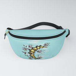 Crescent Moon With Flowers Tattoo Style Fanny Pack